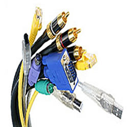 Picture of networking cables